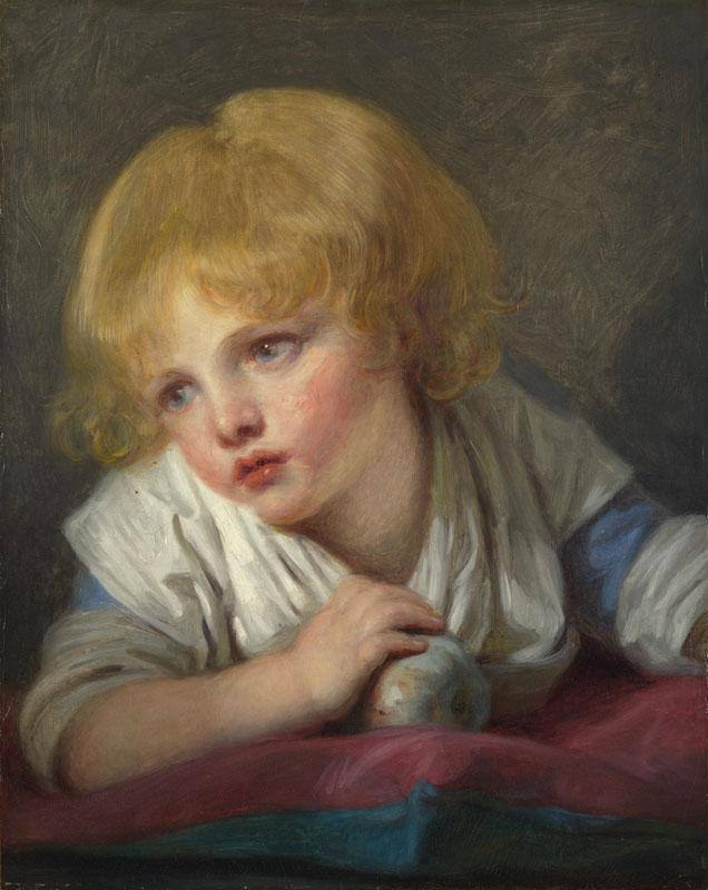 Jean-Baptiste Greuze - A Child with an Apple