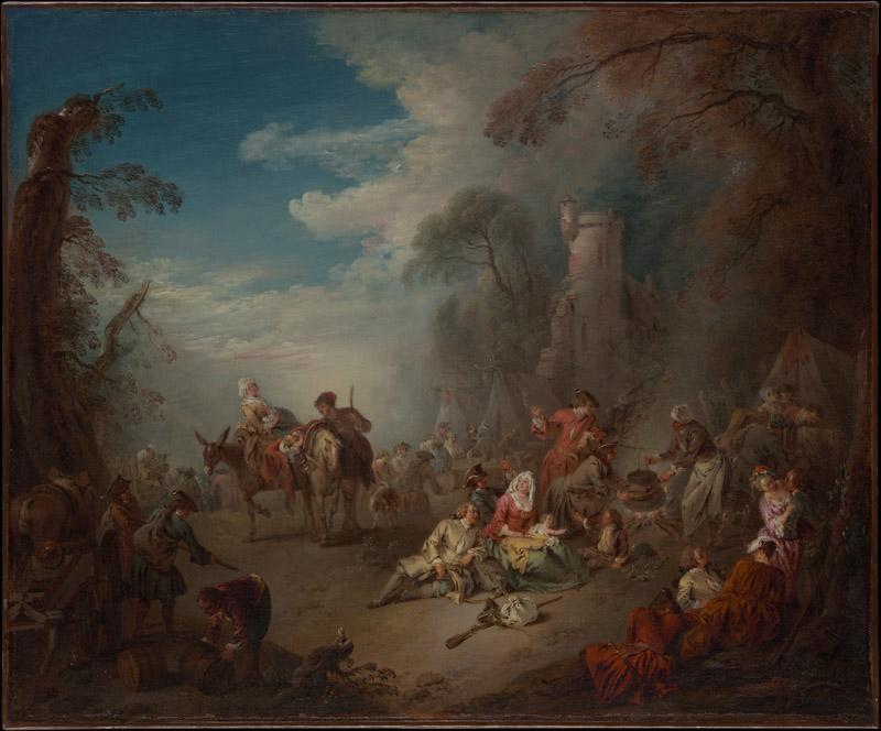 Jean-Baptiste Joseph Pater--Troops at Rest