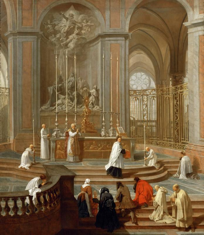 Jean-Baptiste Jouvenet (1644-1717) -- Mass Said by the Canon de La Porte