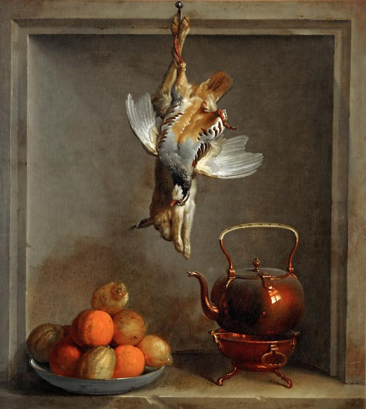Jean-Baptiste Oudry -- Still life with fruit and game
