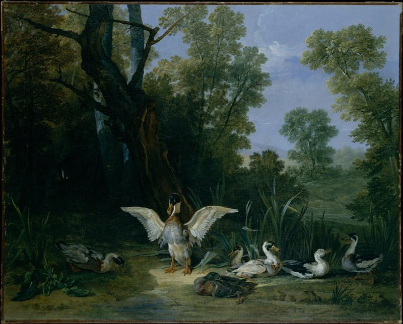 Jean-Baptiste Oudry--Ducks Resting in Sunshine