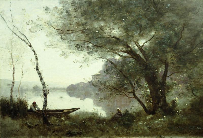 Jean-Baptiste-Camille Corot - The Boatman of Mortefontaine, c.1865-1870