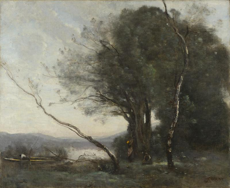 Jean-Baptiste-Camille Corot - The Leaning Tree Trunk
