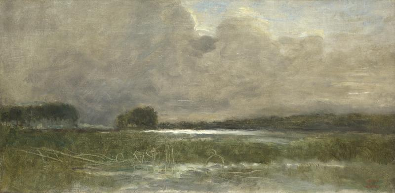 Jean-Baptiste-Camille Corot - The Marsh at Arleux