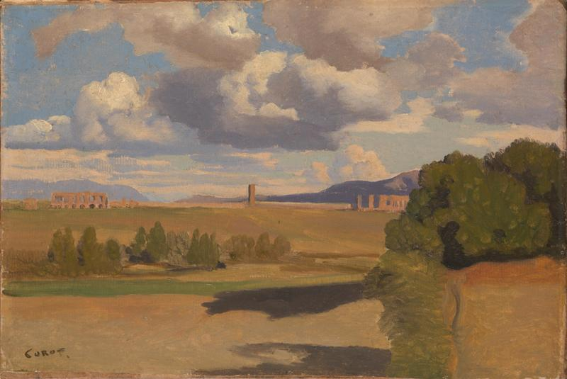 Jean-Baptiste-Camille Corot - The Roman Campagna, with the Claudian Aqueduct