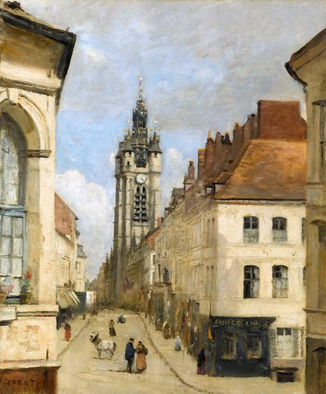 Jean-Baptiste-Camille Corot -- The belfry at Douai