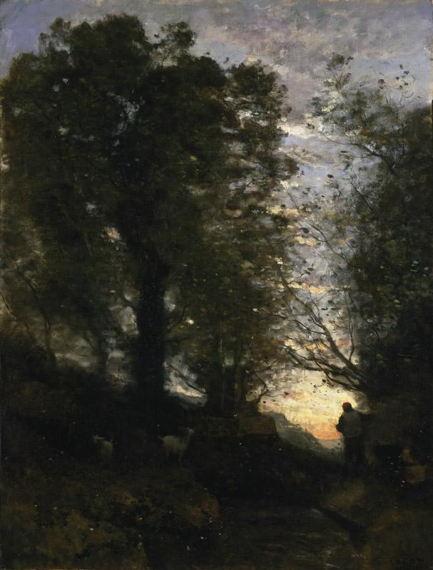 Jean-Baptiste-Camille Corot, French, 1796-1875 -- Goatherd of Terni