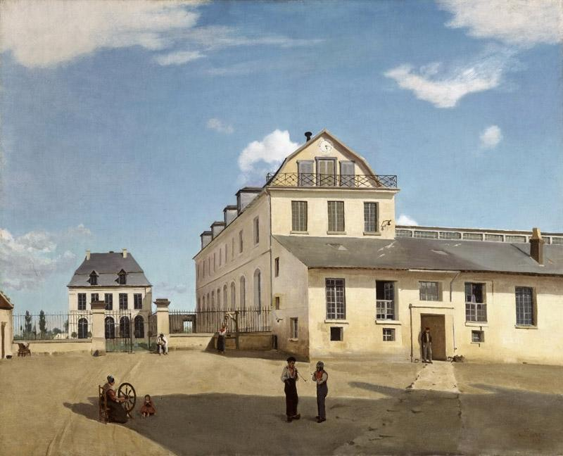 Jean-Baptiste-Camille Corot, French, 1796-1875 -- House and Factory of Monsieur Henry