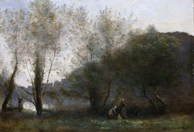 Jean-Baptiste-Camille Corot, French, 1796-1875 -- Morning on the Estuary, Ville d Avray