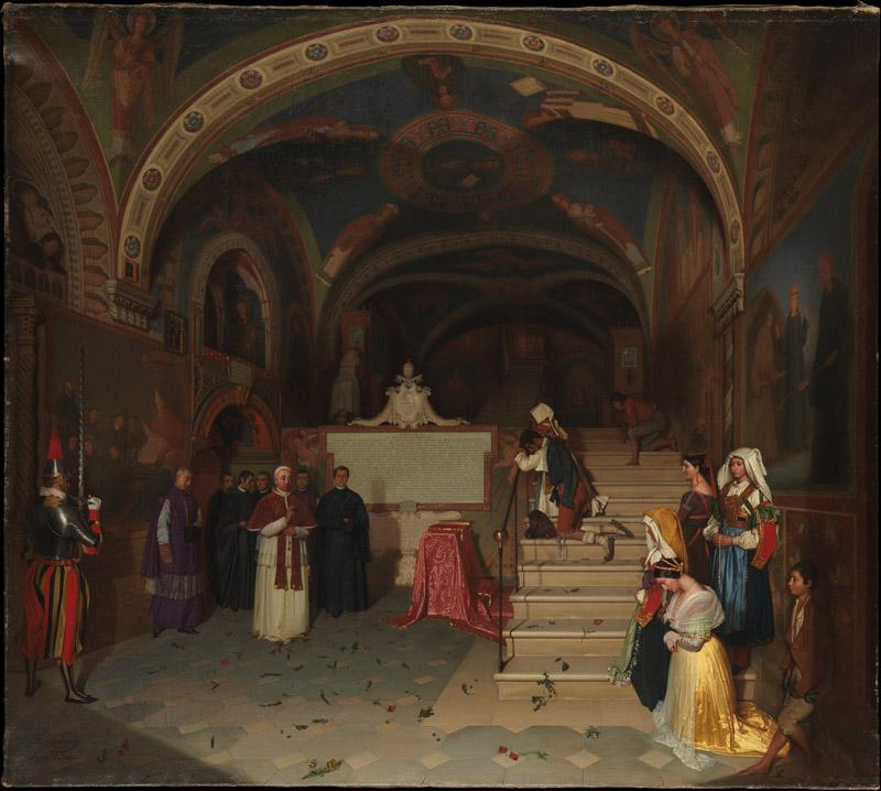 Jean-Francois Montessuy--Pope Gregory XVI Visiting the Church of San Benedetto at Subiaco
