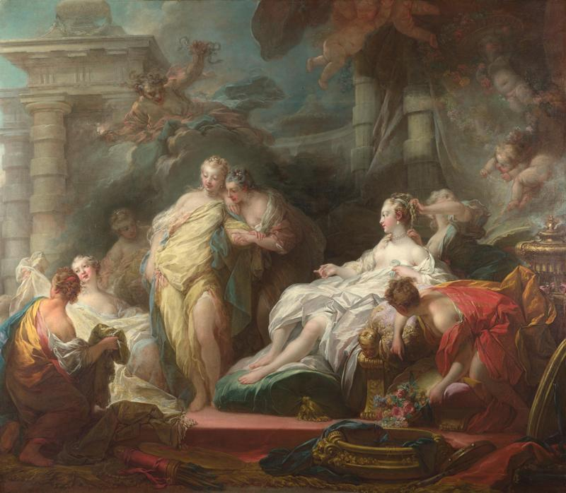 Jean-Honore Fragonard - Psyche showing her Sisters her Gifts from Cupid