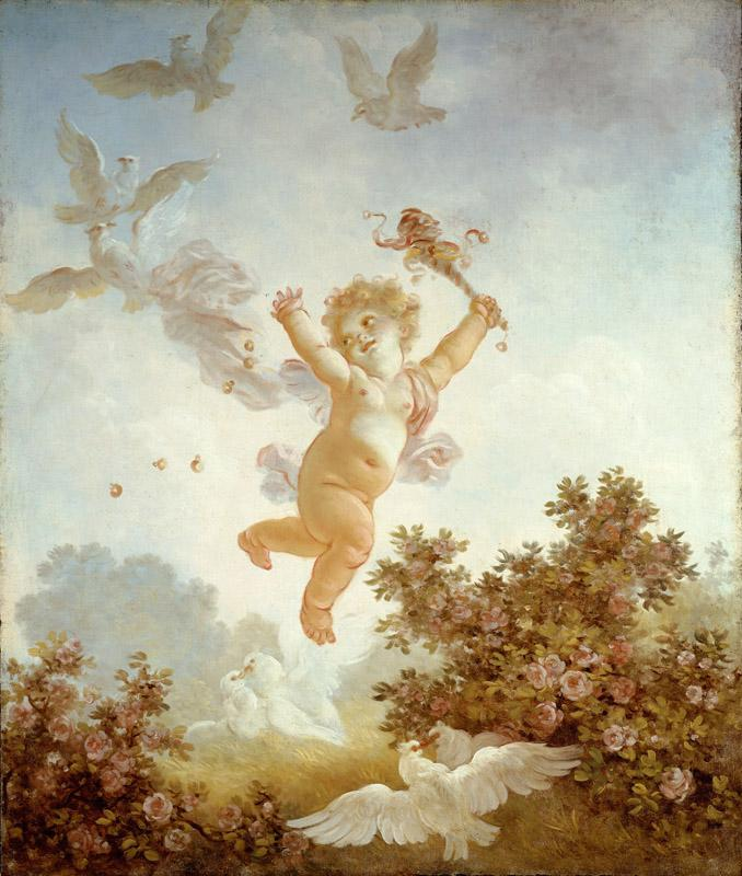 Jean-Honore Fragonard - The Progress of Love Love the Jester, 1790-1791