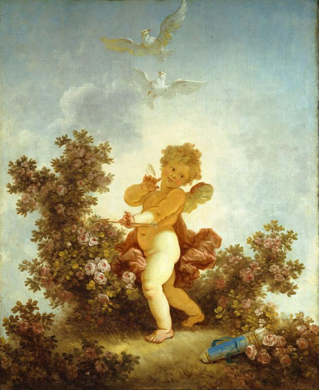 Jean-Honore Fragonard - The Progress of Love Love the Sentinel, 1790-1791