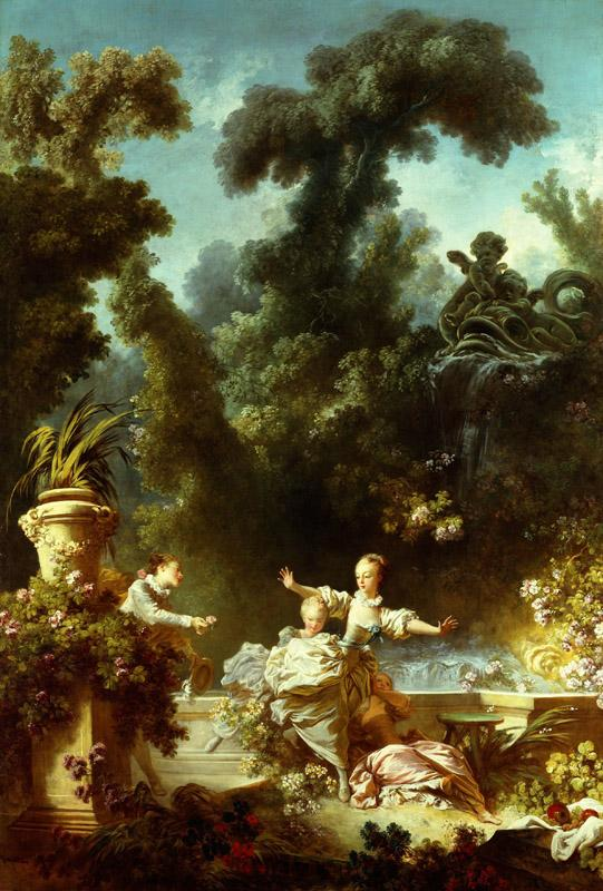Jean-Honore Fragonard - The Progress of Love The Pursuit, 1771-1772