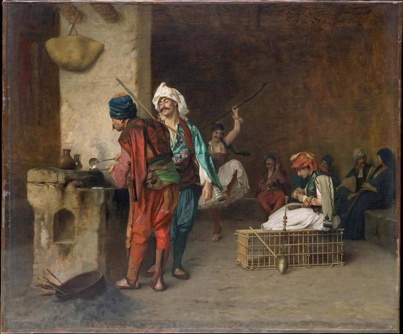 Jean-Leon Gerome---Cafe House, Cairo (Casting Bullets)