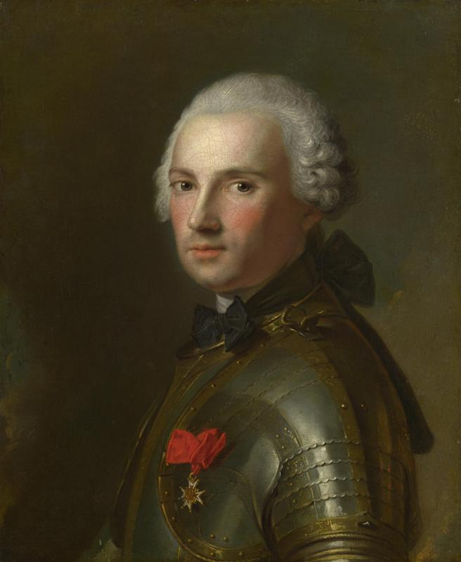 Jean-Marc Nattier - Portrait of a Man in Armour