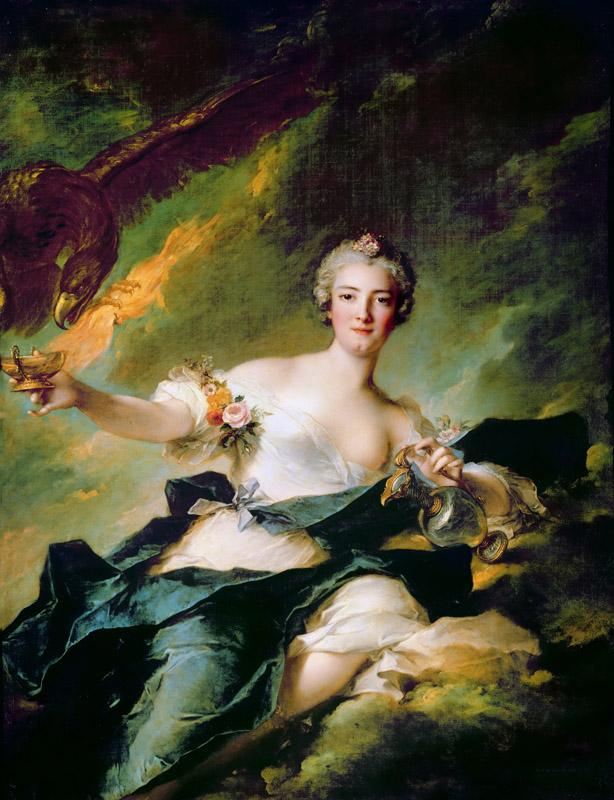 Jean-Marc Nattier -- The Duchess of Chaulnes as Hebe
