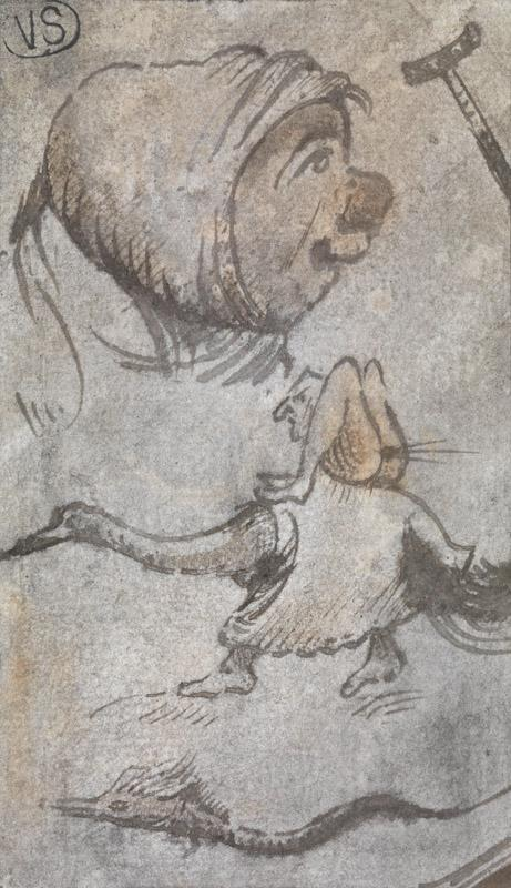 Jheronimus Bosch - Funny head and monster