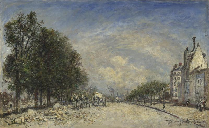 Johan Barthold Jongkind - The Boulevard de Port-Royal, Paris