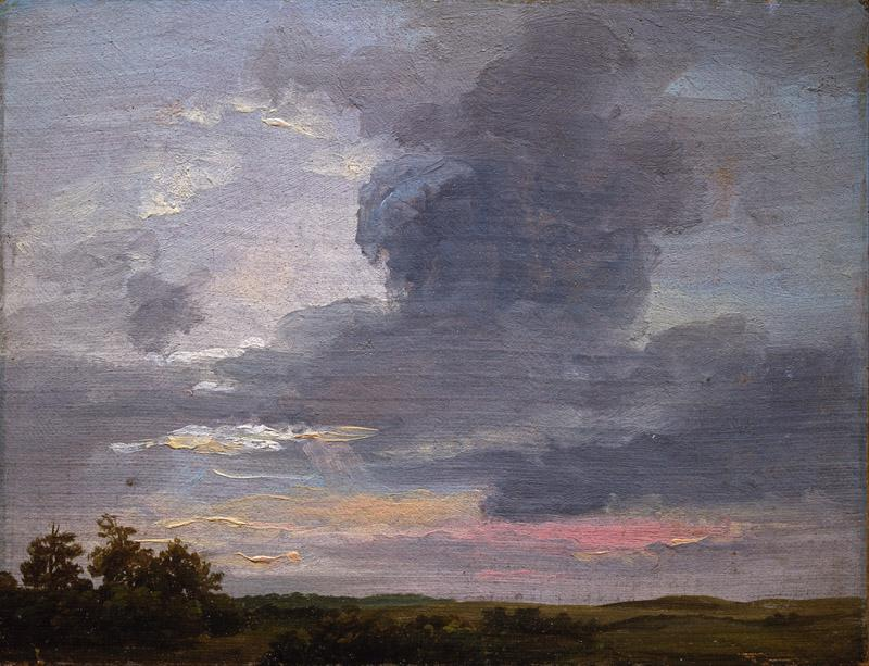 Johan Christian Dahl - Cloud Study over flat Landscape