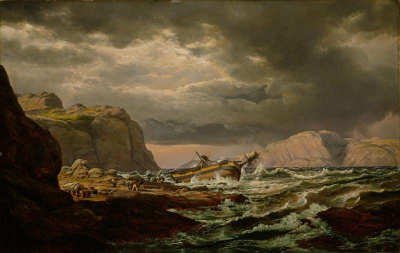 Johan Christian Dahl - Shipwreck on the Coast of Norway