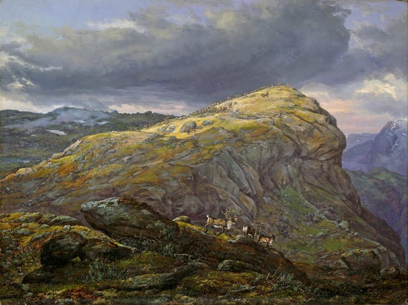 Johan Christian Dahl - Stugunoset at Filefjell