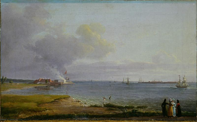 Johan Christian Dahl - View over Oresund near the Lime Works