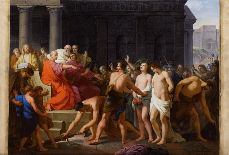 Johann Weixelbaum, after Heinrich Fuger - The Judgement of Lucius Junius Brutus, 1807
