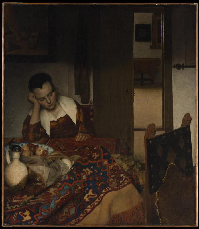 Johannes Vermeer--A Maid Asleep