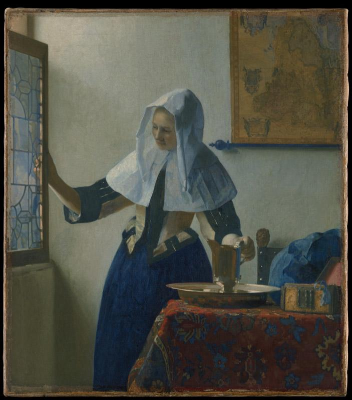 Johannes Vermeer--Young Woman with a Water Pitcher
