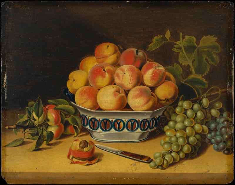 John A. Woodside--Still Life Peaches and Grapes