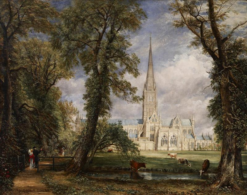 John Constable - Salisbury Cathedral from the Bishop Garden, 1826
