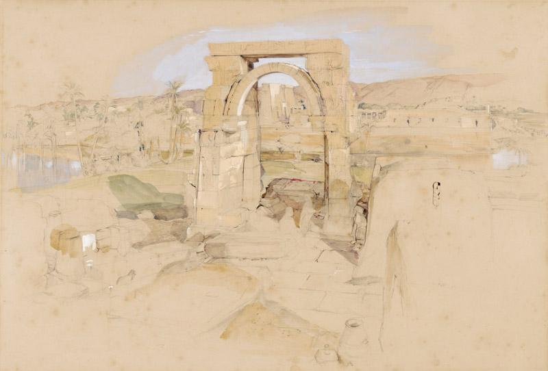 John Frederick Lewis - Ruins in Egypt