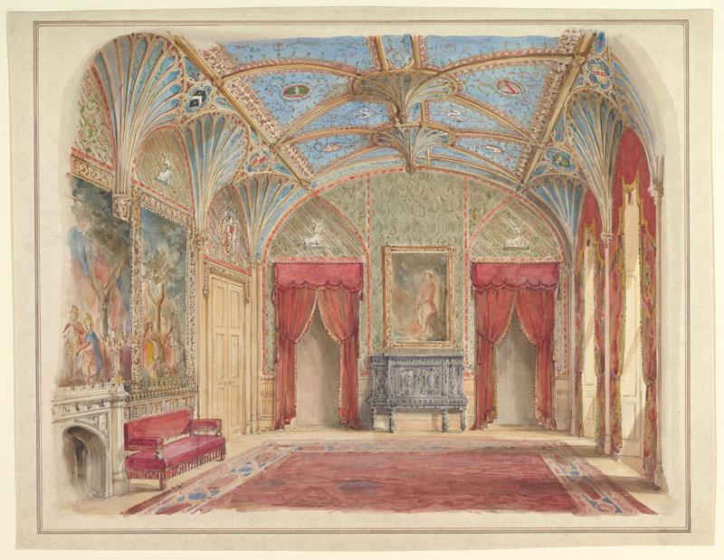 John Gregory Crace--Design for the Decoration of the Drawing Room
