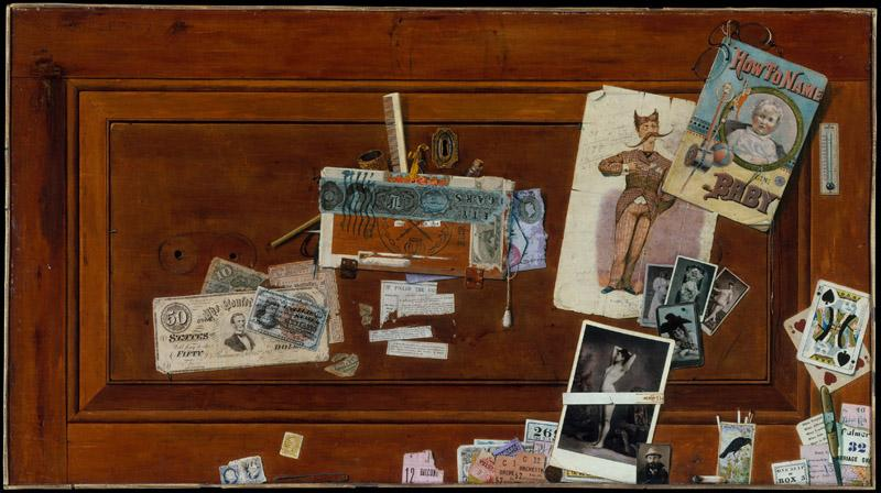 John Haberle--A Bachelor Drawer