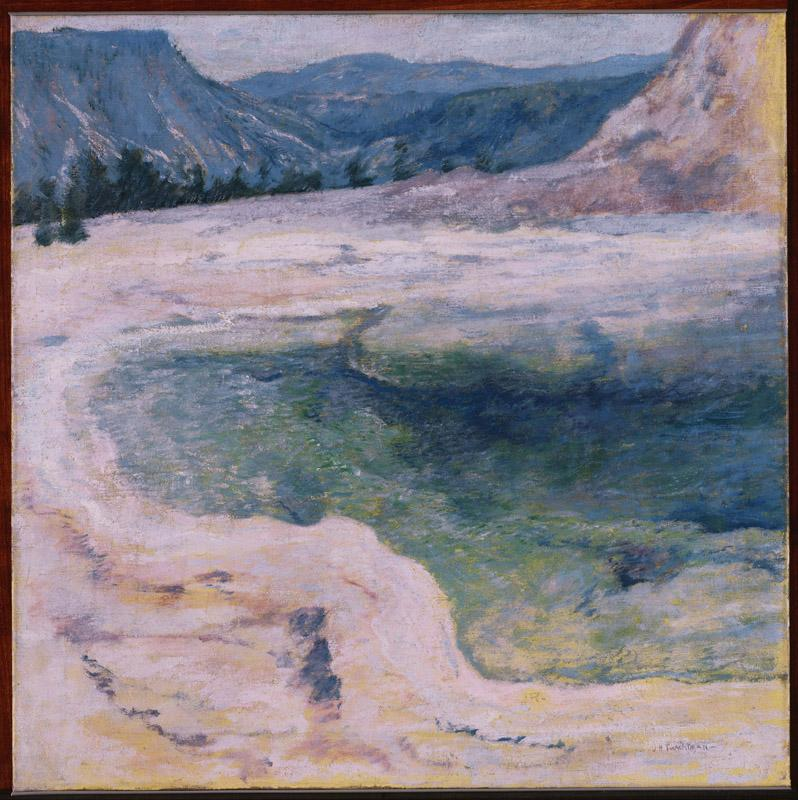 John Henry Twachtman (1853-1902)-The Emerald Pool