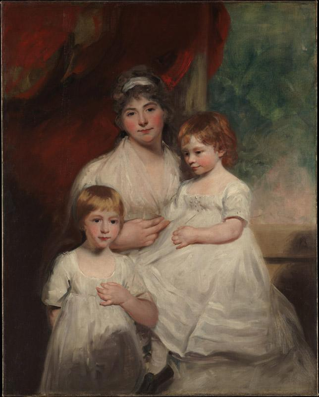 John Hoppner--Mrs. John Garden and Her Children, John and Ann Margaret