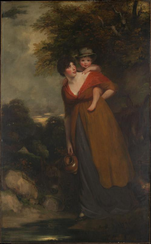 John Hoppner--Mrs. Richard Brinsley Sheridan and Her Son