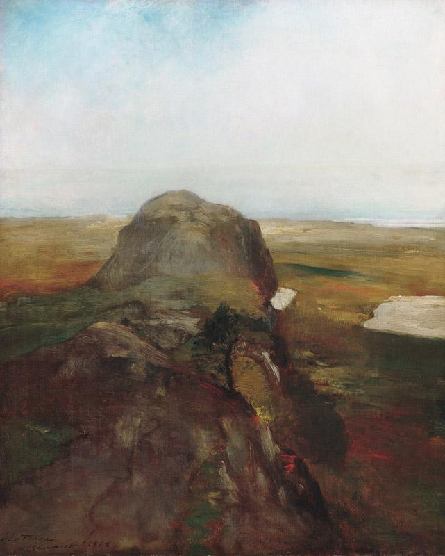 John La Farge--Autumn Study, View over Hanging Rock, Newport, R.I
