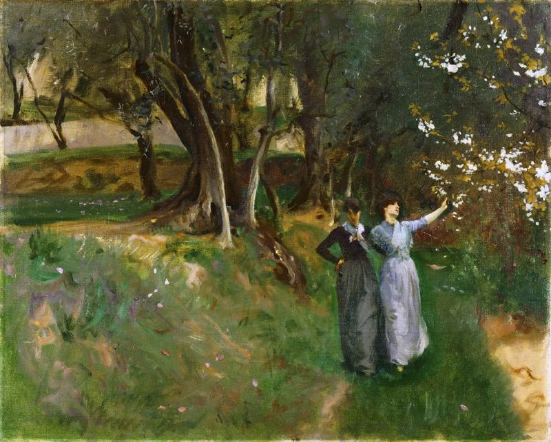 John Singer Sargent, American (active London, Florence, and Paris), 1856-1925 -- Landscape with Women in Foreground