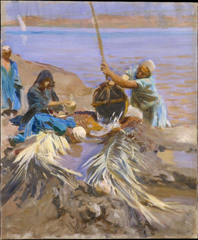 John Singer Sargent--Egyptians Raising Water from the Nile
