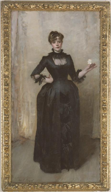 John Singer Sargent--Lady with the Rose (Charlotte Louise Burckhardt)