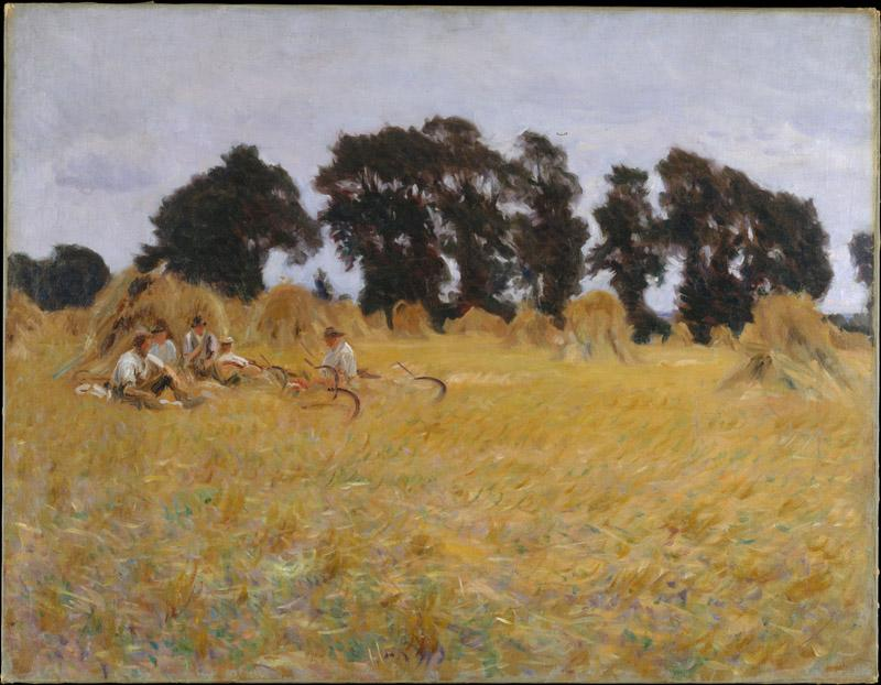John Singer Sargent--Reapers Resting in a Wheat Field