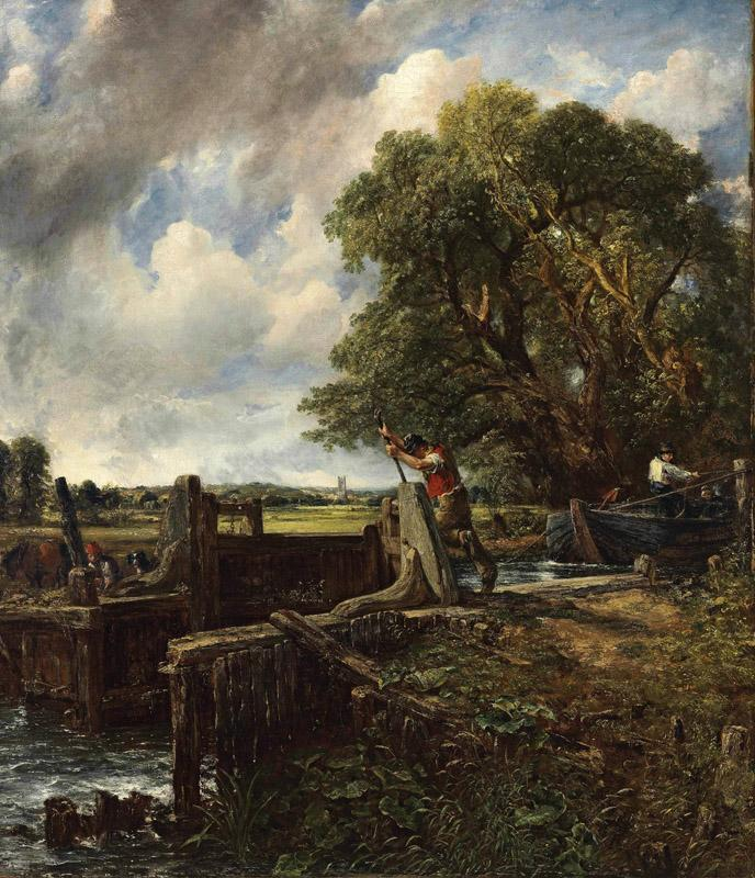 John Constable A Boat Passing a Lock