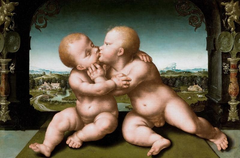 Joos van Cleve - Christ and John the Baptist as Children