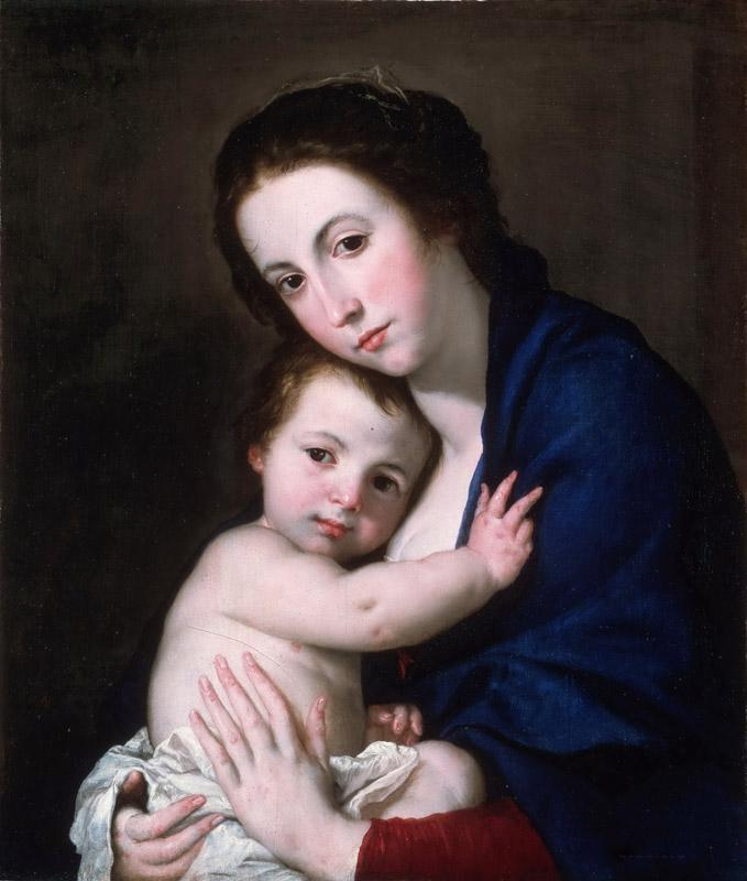 Jose Jusepe de Ribera, also called Lo Spagnoletto, Spanish (active Naples), 1591-1652 -- Virgin and Child