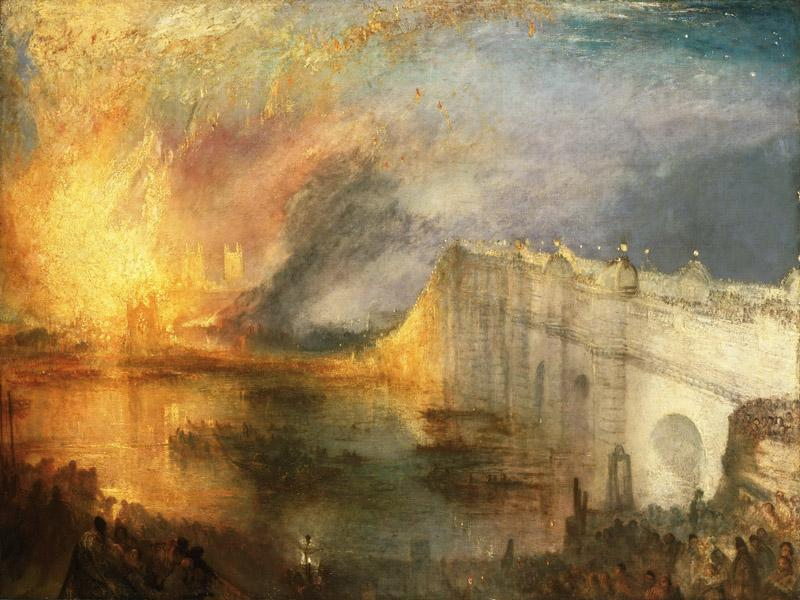 Joseph Mallord William Turner, English, 1775-1851 -- The Burning of the Houses of Lords and Commons, October 16, 1834