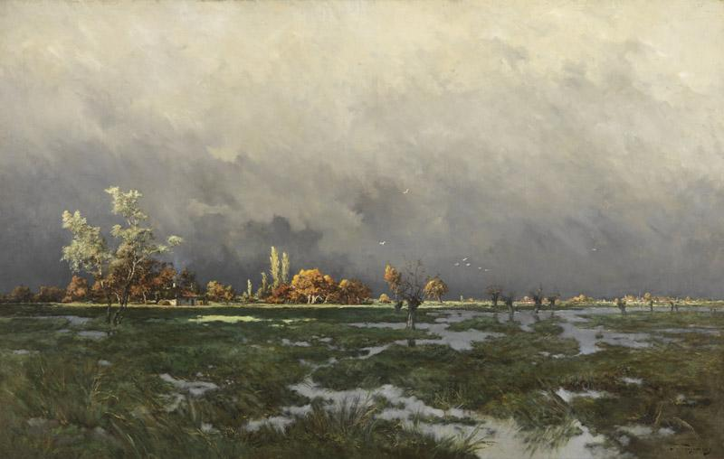 Joseph Theodore Coosemans - Sunshine after the storm D