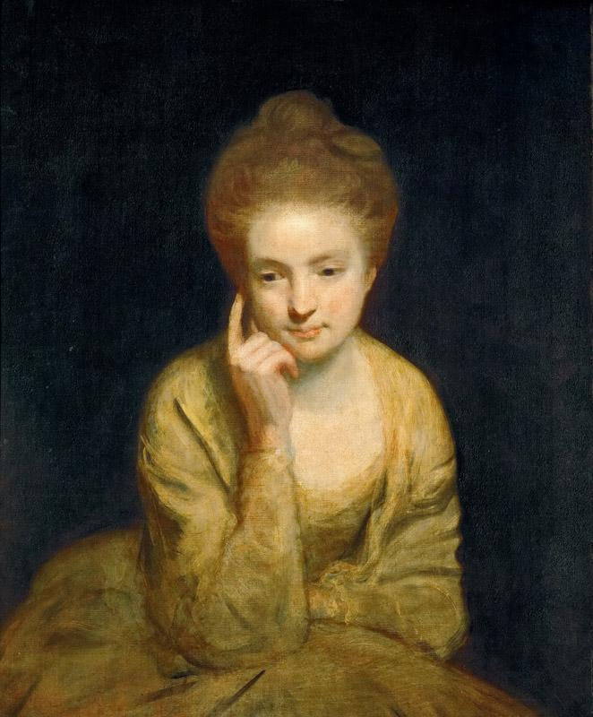 Joshua Reynolds (1723-1792) -- Portrait of a Young Lady