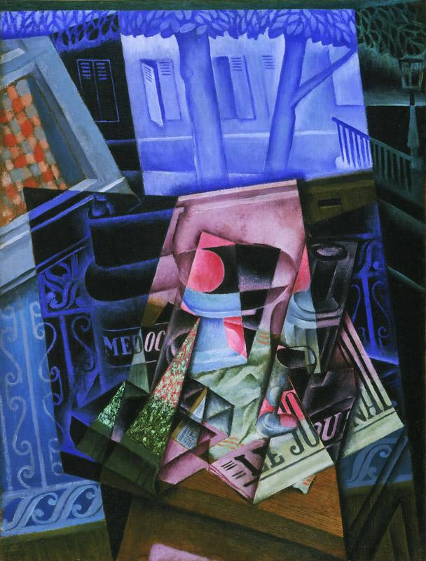 Juan Gris (Jose Victoriano Gonzalez Perez), Spanish, 1887-1927 -- Still Life before an Open Window, Place Ravignan